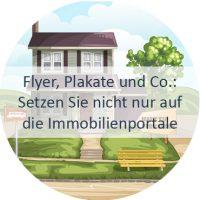 Haus, Wohnung, verkaufen, Immobilienportale, Flyer, Düsseldorf