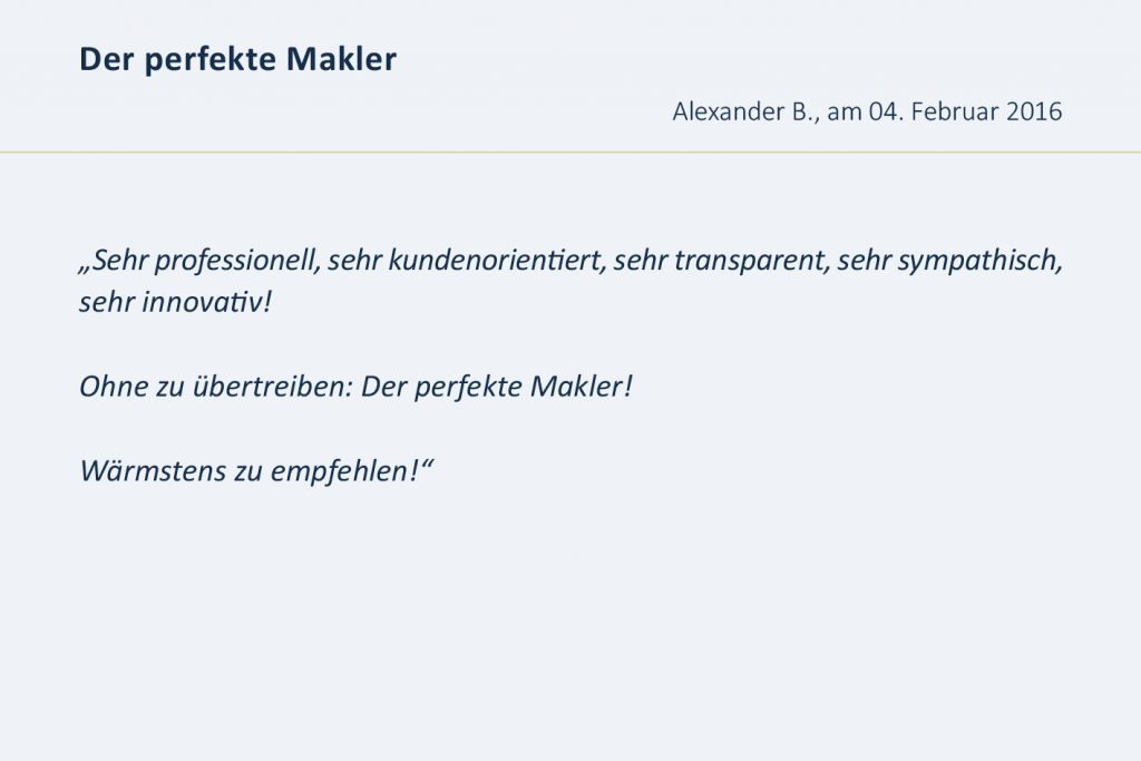 Bewertungen Immobilienmakler Düsseldorf, Bewertung, Erfahrung, Erfahrungen, Erfahrungsberichte