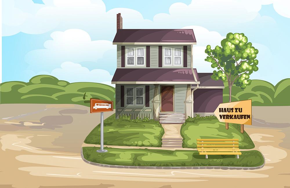 Haus oder Wohnung verkaufen, wo mache ich Werbung, hilft meine Nachbarn wissen Bescheid