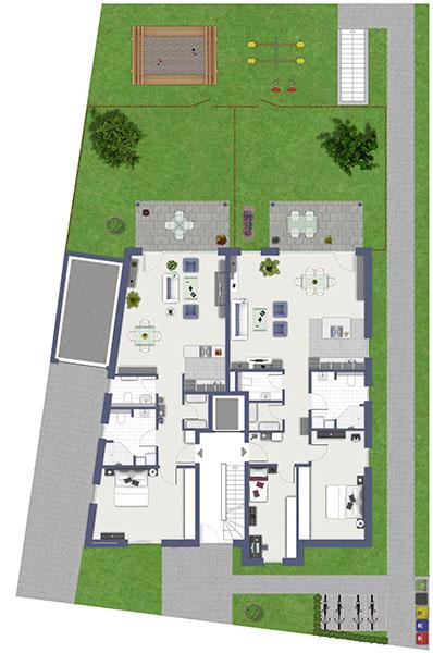 Naubau, Neubauprojekt, Duisburger Süden, Bruchgraben, Huckingen