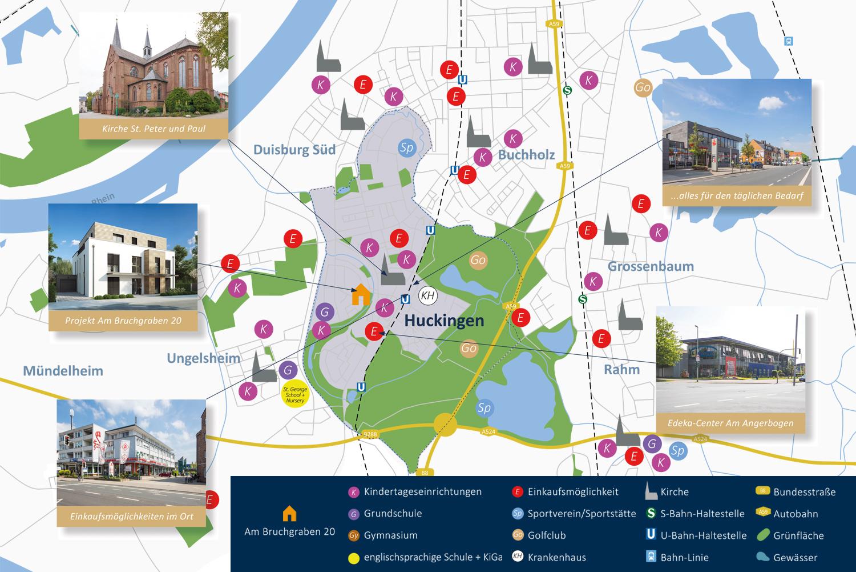 Stadtteilkarte Huckingen