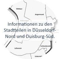 Informationen zu den Stadtteilen in Düsseldorf-Nord und Duisburg-Süd