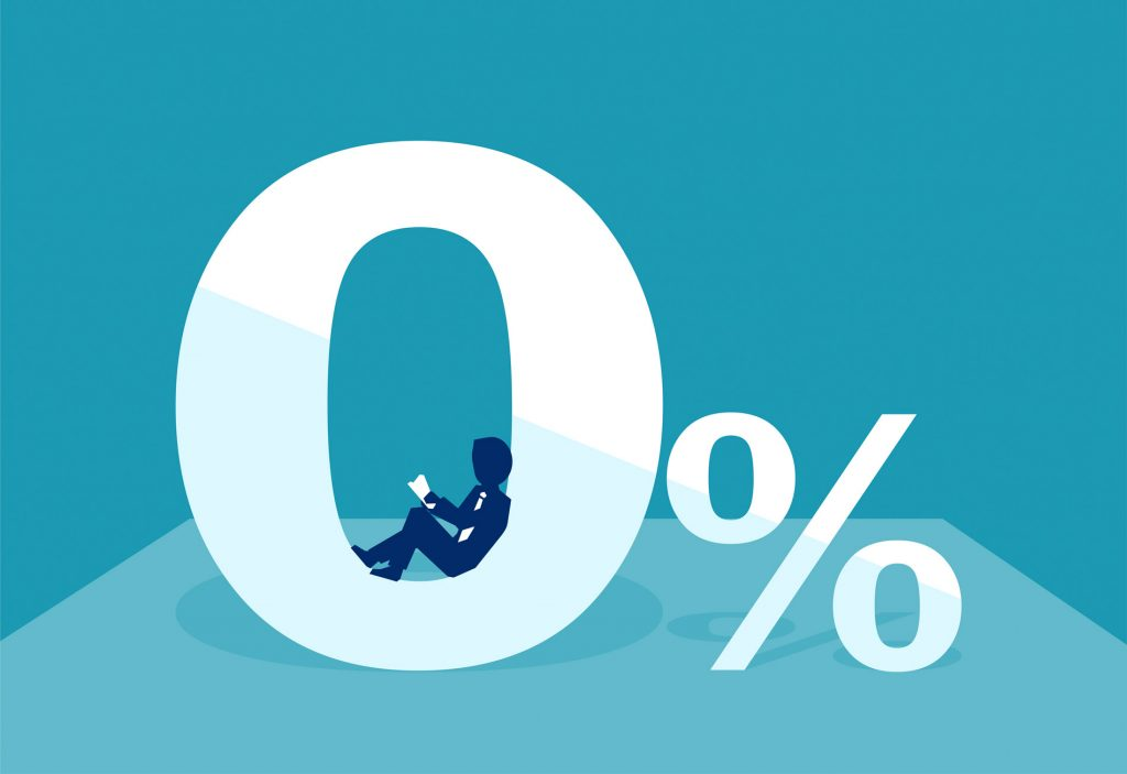 Bis zu 10 Prozent Zinsen zahlten Immobilienkäufer noch vor 30 Jahren auf das Darlehen für ihr Eigenheim. Seit einigen Jahren befinden wir uns nun in einer Niedrigzinsphase. Wann die Zinswende kommt ist nicht abzusehen. Aktuell sinken die Zinsen sogar noch weiter. Experten spekulieren bereits. Kommen bald Kredite ohne Zinsen oder gar mit Negativverzinsung?