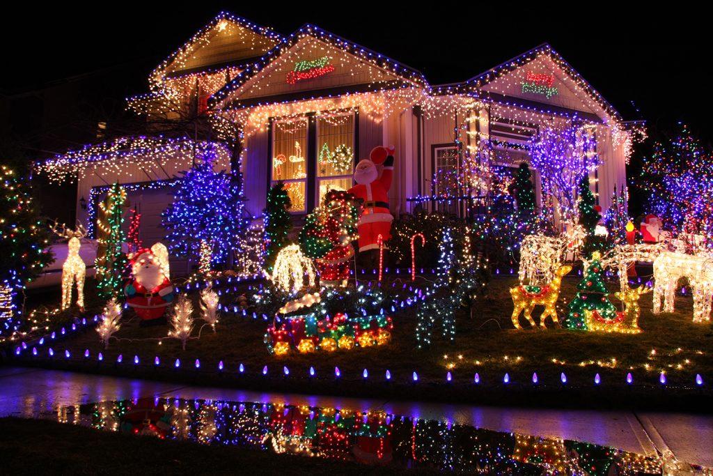 Haus dekorieren Weihnachten