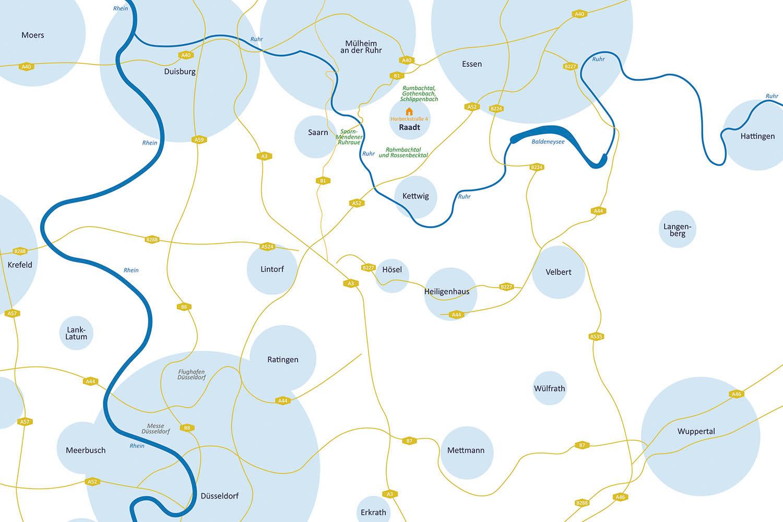 wohnen in mülheim-raadt, wohnnen in muelheim-raadt, Wohnung kaufen in Raadt, Wohnung kaufen in Mülheim, Wohnung kaufen in Muelheim_Umgebungskarte